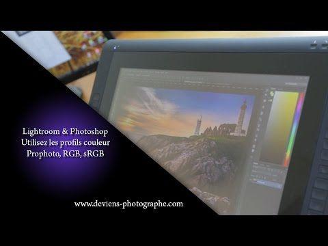 Lightroom, photoshop - utilisez les profils couleur rgb srgb prophoto.