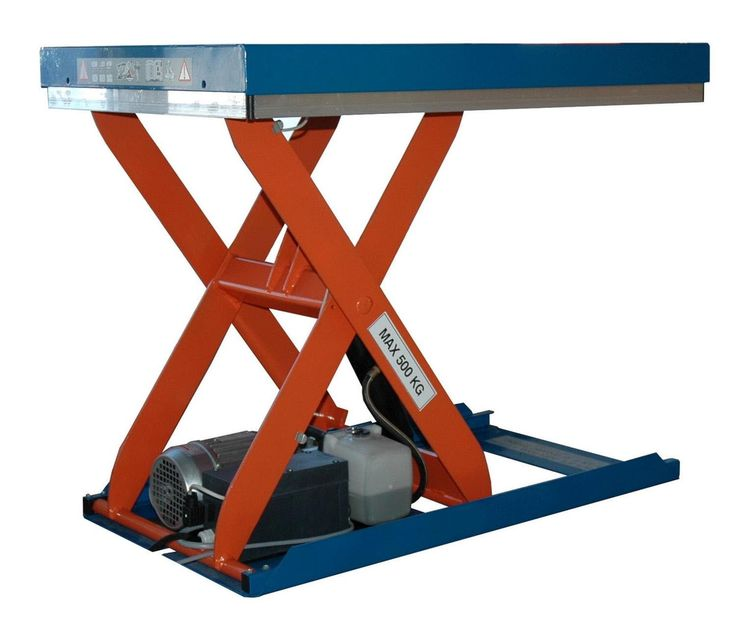 GTARDO.DE:  Hubtisch, 500 kg, Maße 900 x 600 mm, Hub 600 mm, 0,37 kW 1 613,00 €