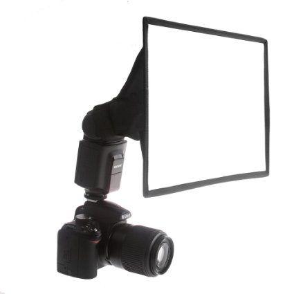"""Neewer® Pro (Pro Version de Neewer® Produit) 8""""×12"""" (20cmX30cm) softbox Diffuseur Universel Pliable Carré pour Flash Sur-caméra et Hors-caméra, pour Canon 430EX II, 580EX II, 600EX-RT, Nikon SB600 SB800 SB900,SB910, Neewer TT520, TT560, TT680, TT850, TT860, Youngnuo YN560, YN565, YN568, Vivita Flash, Sunpack, Sunpak, Nissin, Sigma, Sony, Pentax, Olympus, Panasonic Lumix Flashs avec Sac de Transport Diffuseur de Flash Uni"""