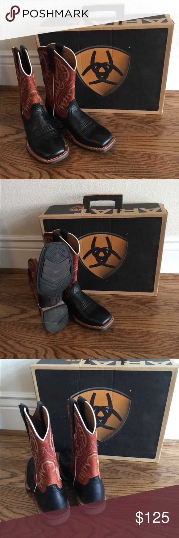 Men's Ariat boots Men's never nice Ariat boots! Only worn one once! They are a very sharp looking pair of boots! Ariat Shoes Cowboy & Western Boots