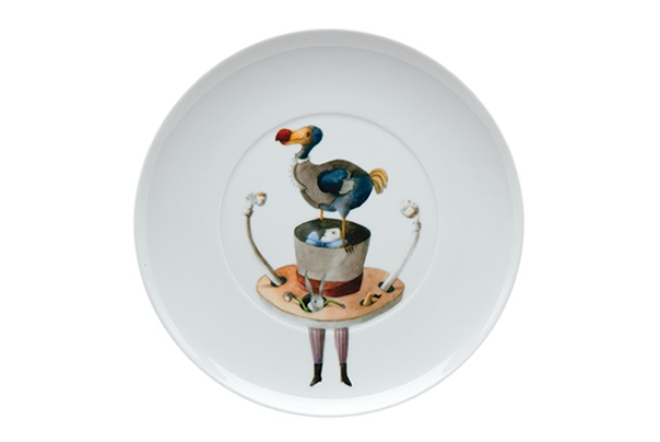 TEA WITH ALICE  by Teresa Lima ILUSTRARTE - Dessert Plate