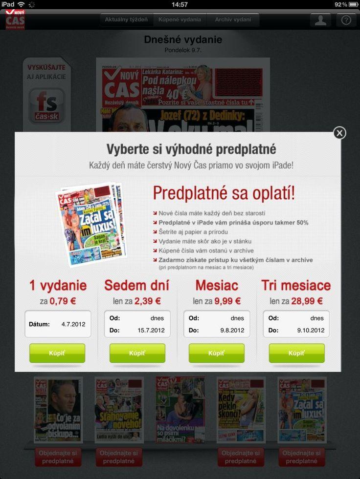 iStánok aj vo vašom tablete. Predplaťte si časopisy v elektronickej forme za super ceny na http://istanok.cas.sk/elektronicke-casopisy-a-noviny.html