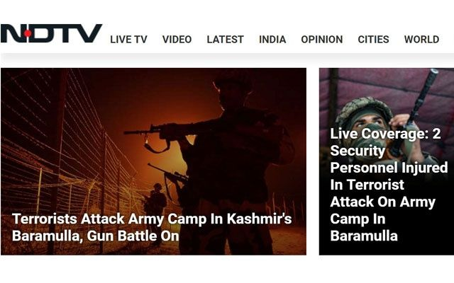 Militants fire on Indian army base in Baramulla, gunfight on