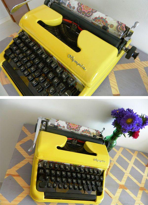 Passo a passo: Como reformar uma máquina de escrever