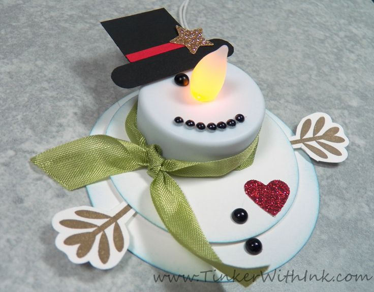 tealight snowman ornament