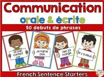 Communication orale et écrite: Cette ressource contient 50 énoncés (débuts de phrases) qui permettront aux élèves d'améliorer leur communication orale et écrite. Les élèves doivent lire le début de la phrase et trouver une fin qui a du sens.