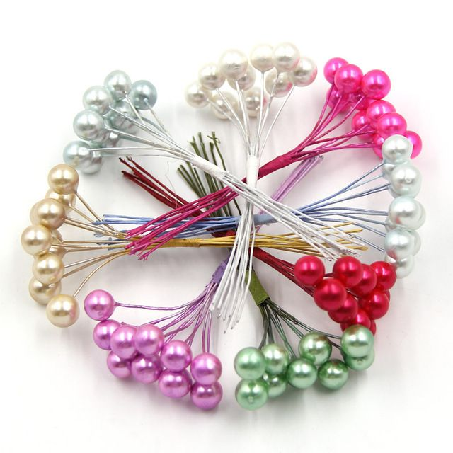 New!10pcs/lot Foam Pearl Stamen Bouquet For Wedding/Home/Party Decoration Artificial Flower For Corsage Decoration Crafts Plants