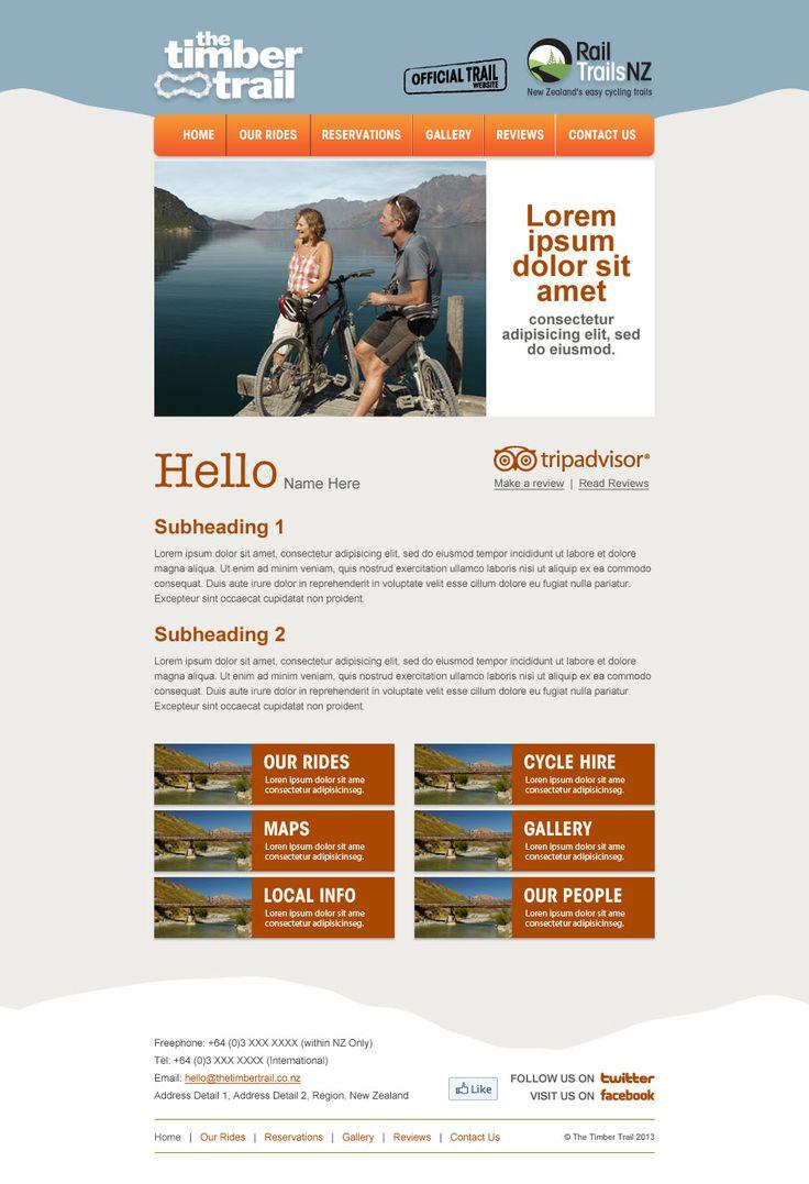 Rail Trails NZ individual operator newsletter design