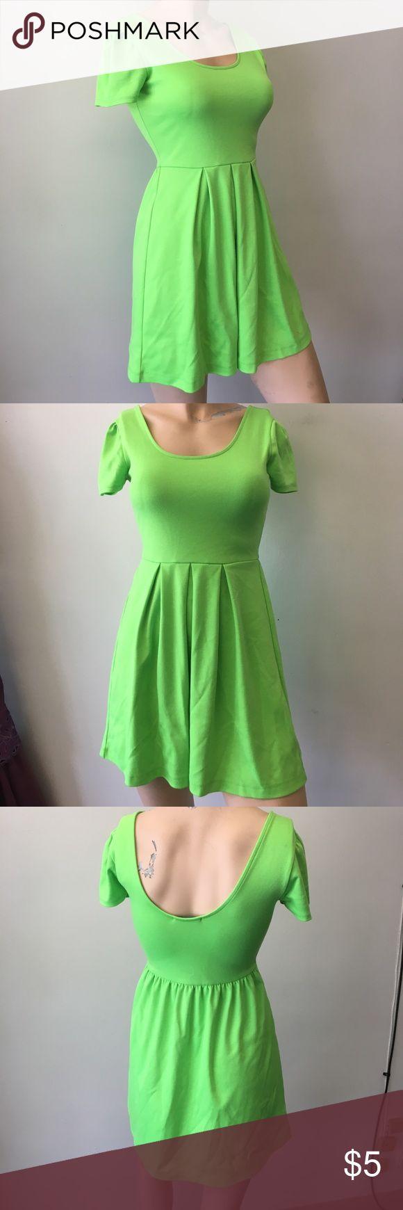 Cute mini dress Neon green dress Dresses Mini