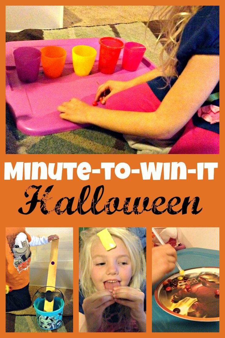 7 Fun minute to win it games using halloween candy. Get