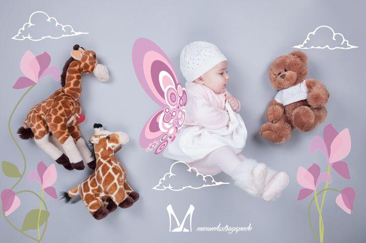 Illustrated my baby photo creative