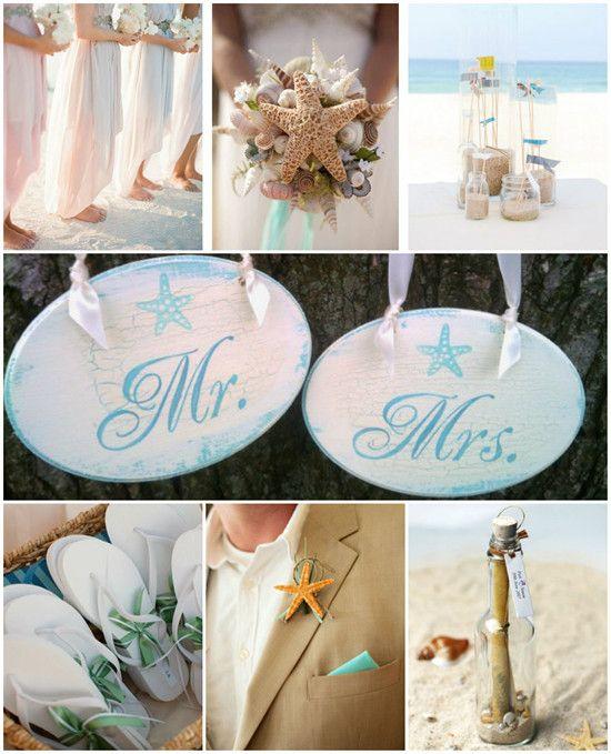 Romantische Sommerhochzeit am Strand in Blau & Grün | Hochzeitsblog Optimalkarten
