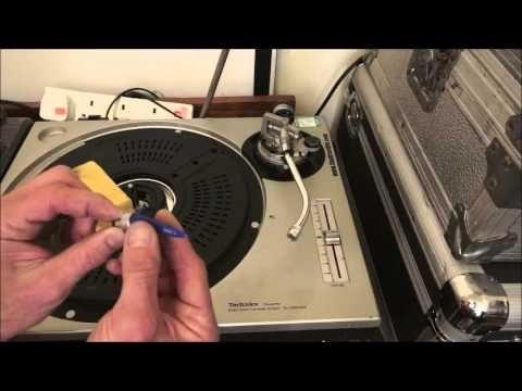 Maintaining a vinyl turntable.