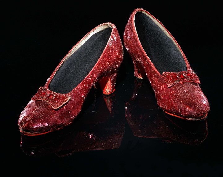 Dorothy's Ruby slippers.....I adore these, I've been searching for shoes like this, but so far I haven't had any luck.