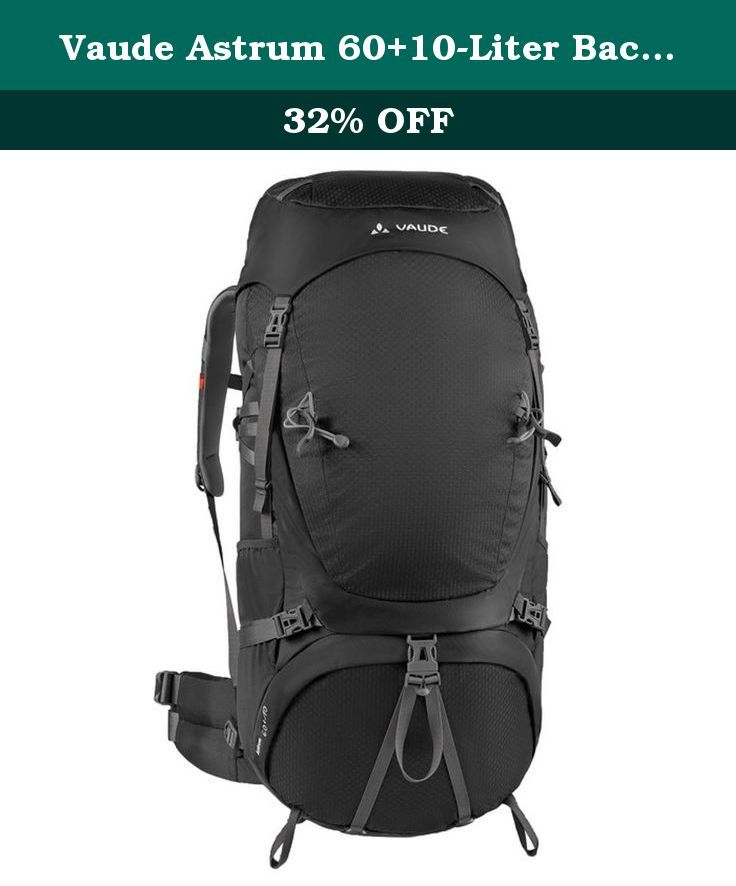 Vaude Astrum 60+10-Liter Backpack, Black, X-Large. Plenty of room for wanderlust: when your journey requires you to carry all your gear with you, you need a dependable touring pack with plenty of storage space and excellent carrying comfort.
