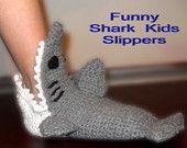OFFER-Shark slippers in all sizes. $14.90, via Etsy.