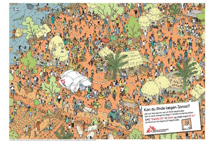 """Find Jonas"". Poster for Medecins Sans Frontiers. Nominated for Creative Circle award 2012."