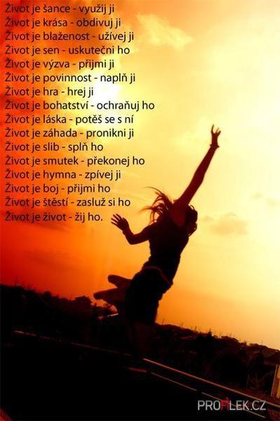 Život je......