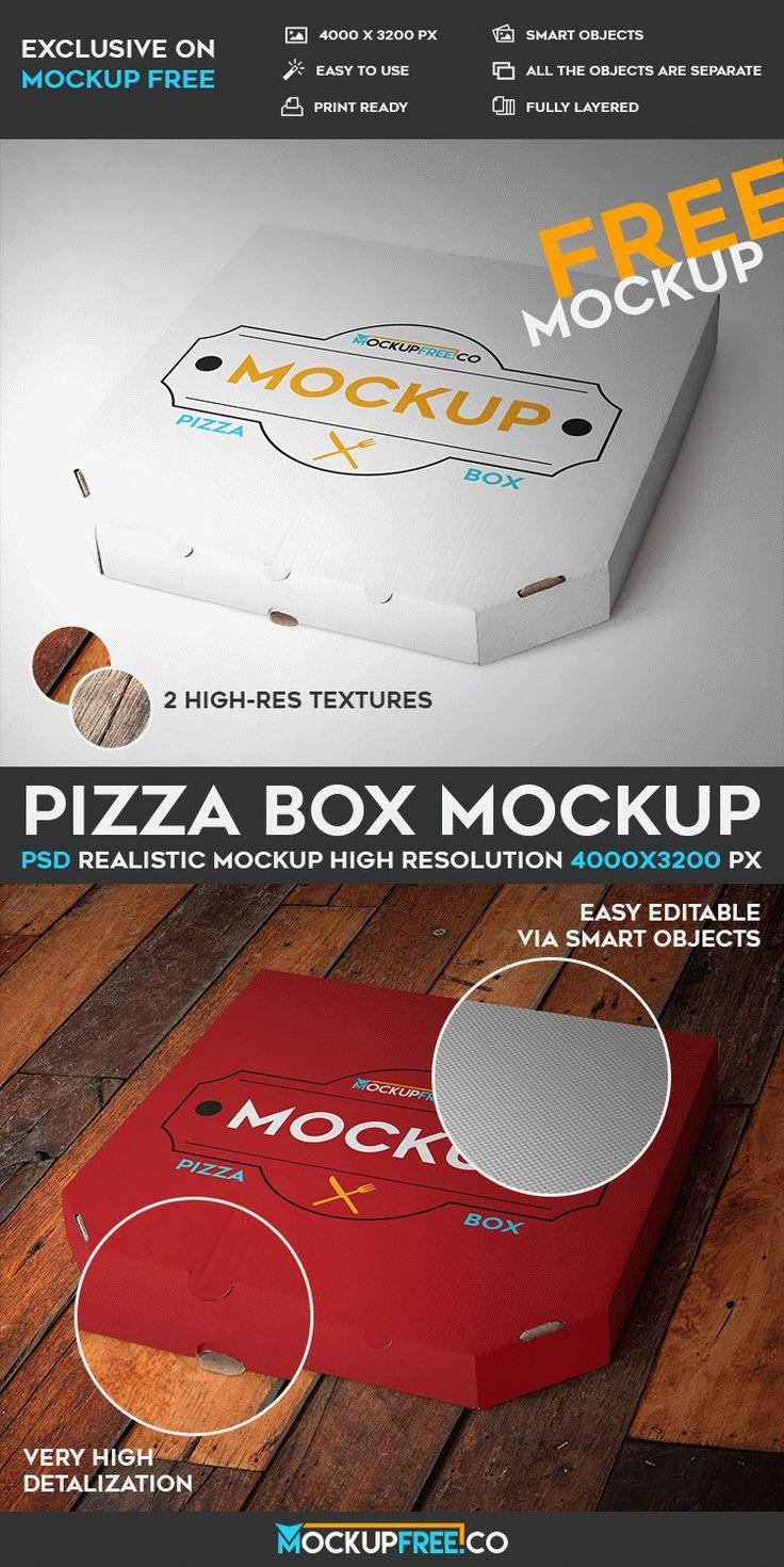 Pizza Box PSD Mockup | Free PSD Templates | #free #photoshop #mockup #psd #pizza #box