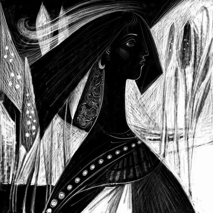 Ancient Queen. Digital Engraving. 2016