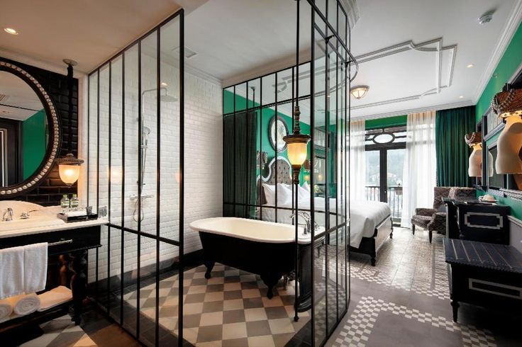 60 Open Concept Bathroom Hotel Room Design Hotels Room