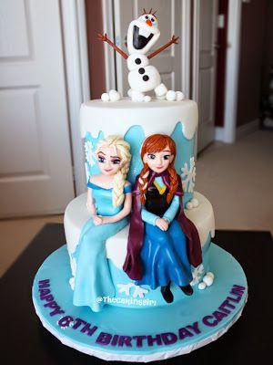 figurine figurines cake anna frozen cake fondant frozen frozen elsa ...