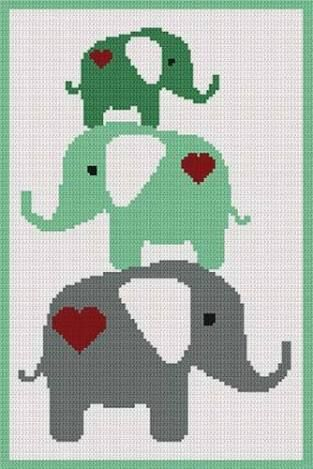 Image result for free baby elephant cross stitch pattern