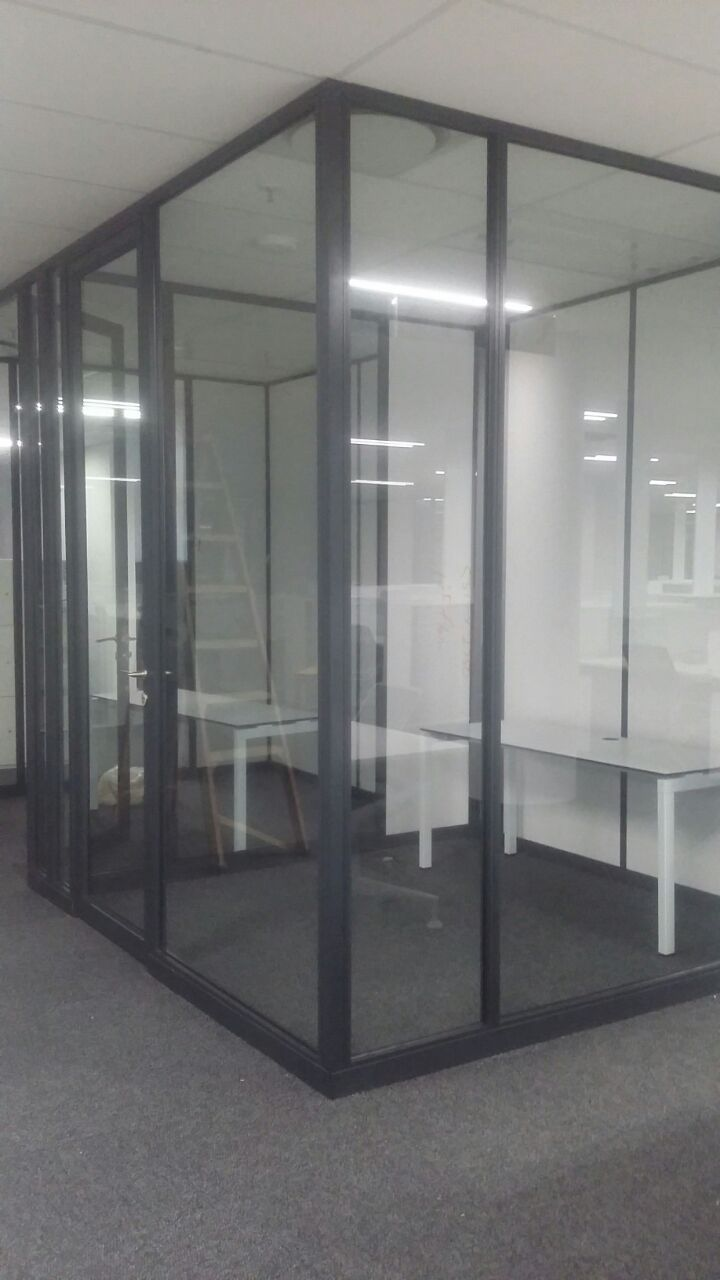 Initial photos of some work we completed recently for DSTV. Products include Movable Walling Systems; 50mm Glass and Reusable Dry Wall. We are so priveleged to have worked on such a great project!