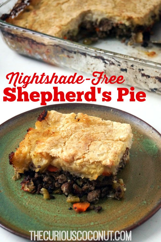 Nightshade-free, dairy-free shepherd's pie (autoimmune paleo) TheCuriousCoconut.com