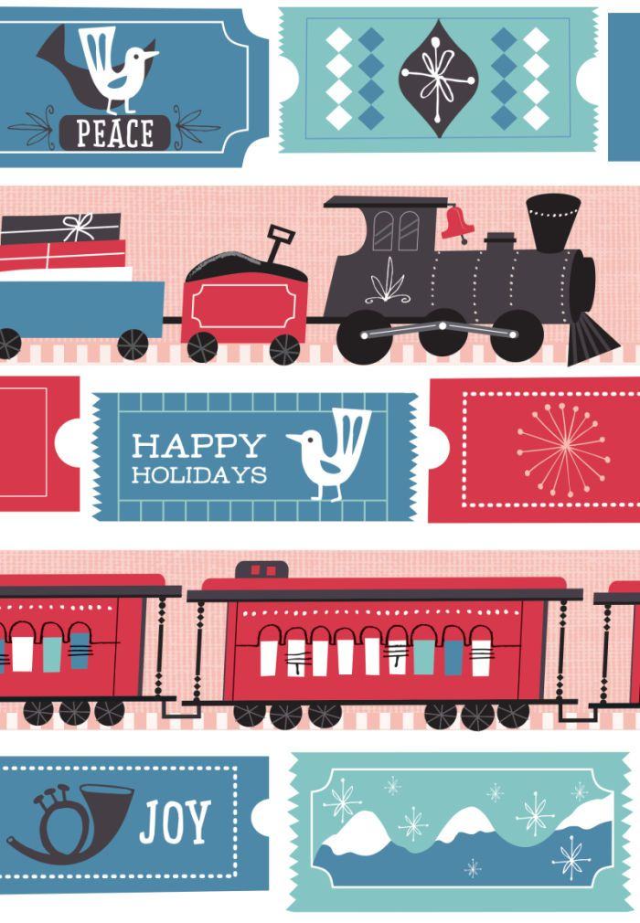 Sarah Allen - Sarah Allen Holiday Card Toy Train