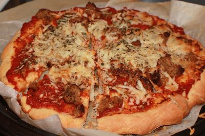 What's Cookin' Italian Style Cuisine: Meatball Sicilian Pizza Recipe  and Pizza Sauce.  YUM