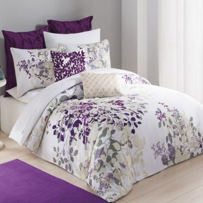 Kas® Winchester Duvet Cover in Purple - BedBathandBeyond.com