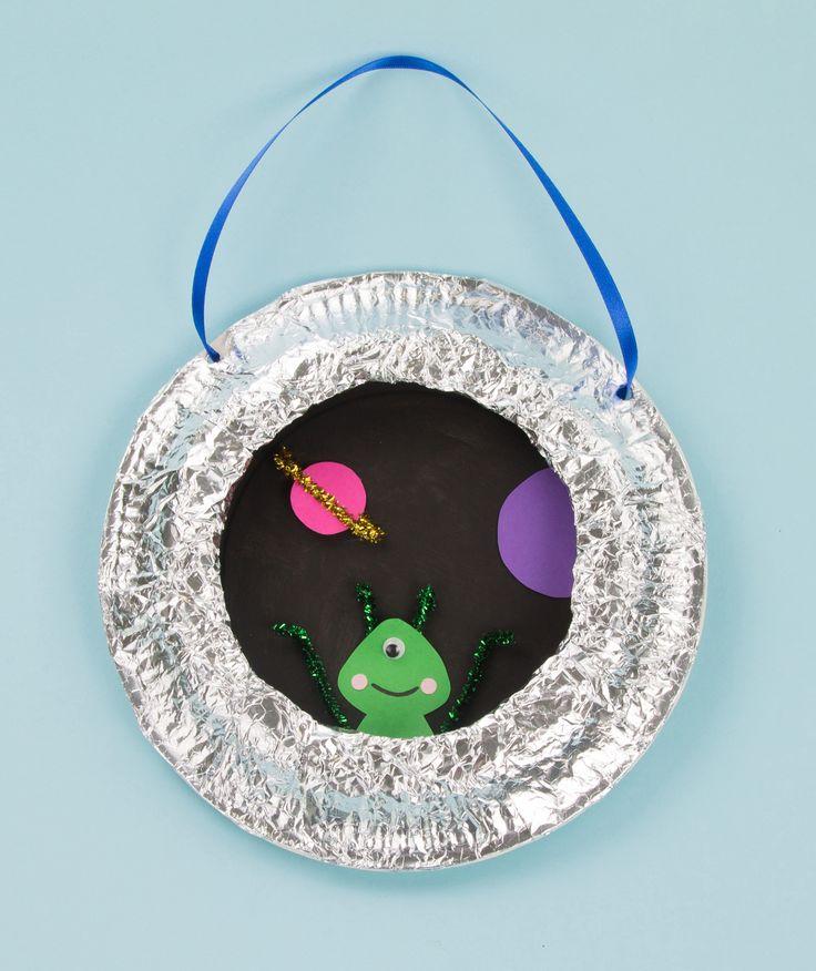 Spaceship Porthole Craft Idea from Twinkl