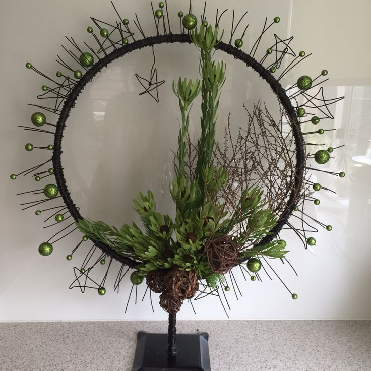 Boxhill floral art contemporary Christmas by Jodi Forbes