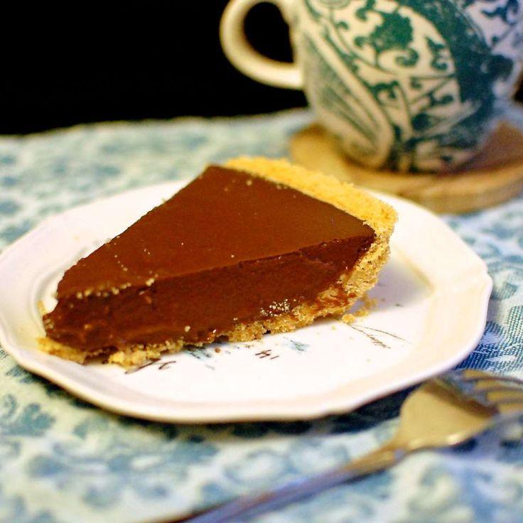 Tarte au chocolat végétalienne et sans gluten