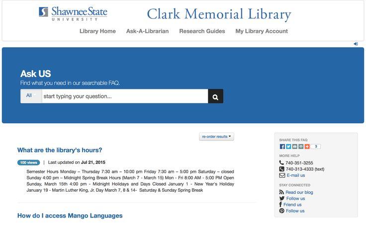 Shawnee State University Clark Memorial Libary