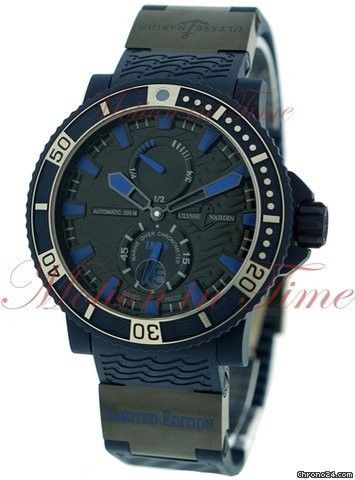 """Ulysse Nardin Maxi Marine Diver """"Blue Sea"""", Limited Edition to 999 Pieces, Black Dial - Stai"""