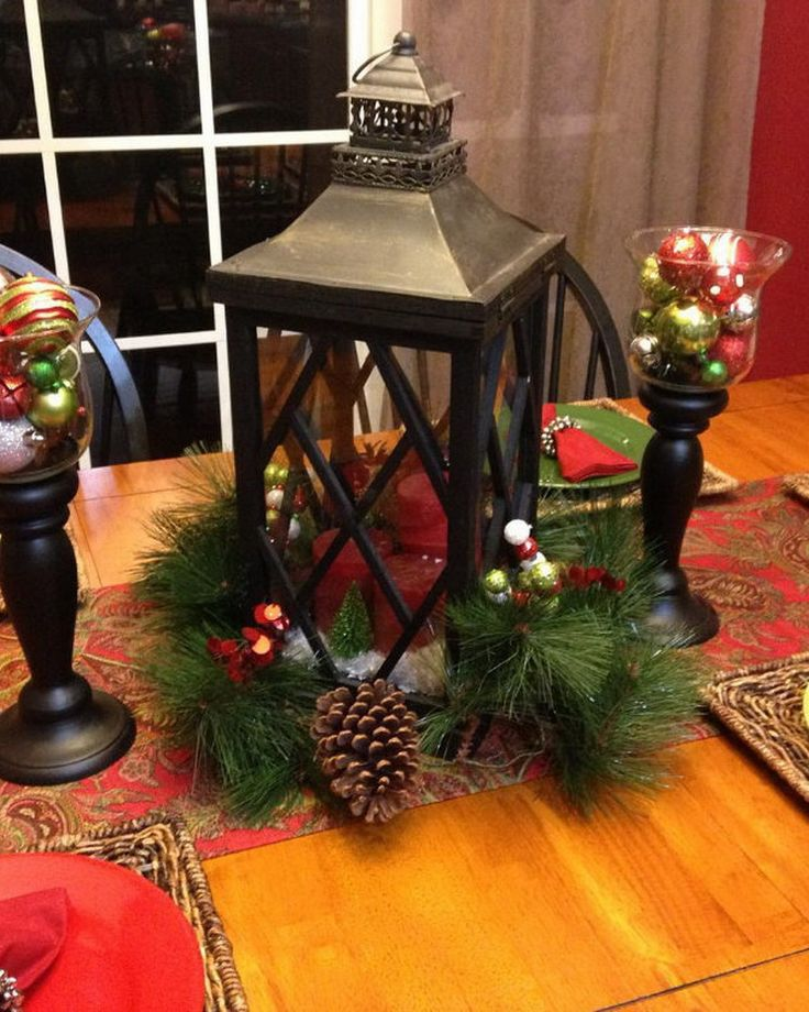 78 images about christmas table decorations on pinterest for Modern table decoration ideas