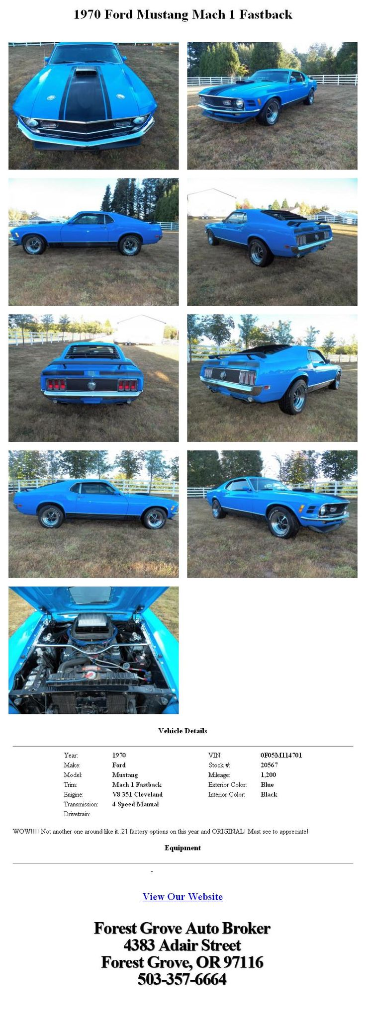 1970 ford mustang mach 1 fastback i want it