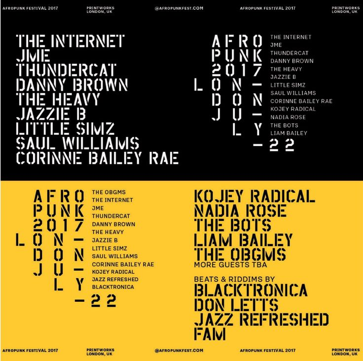#housemusic AFROPUNK ANNOUNCE THE INTERNET, LIAM BAILEY AND MORE PLUS BATTLE OF THE BANDS AND SPINTHRIFT MARKET: TEAM AFROPUNK are gearing…