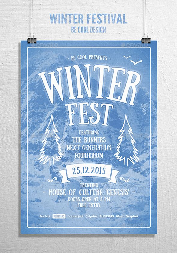 1635 best Typography Flyer Template images on Pinterest Flyer - winter flyer template