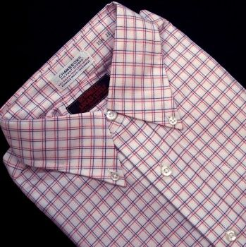 Sero Chambrox Pinpoint Oxford - Red & Blue Check
