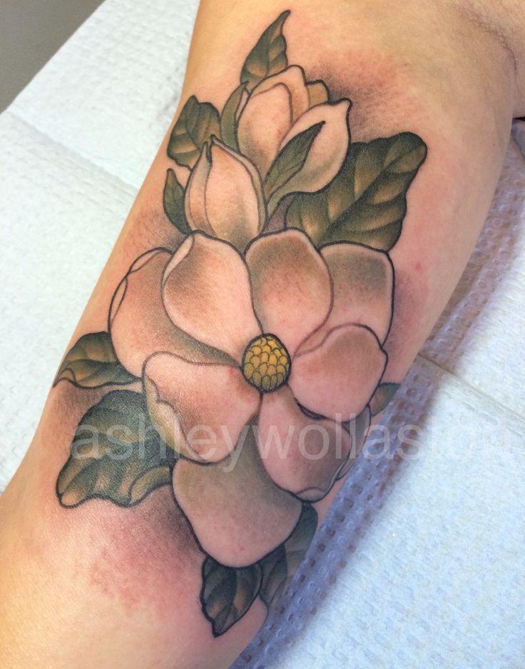 magnolia flower tattoo men - photo #46