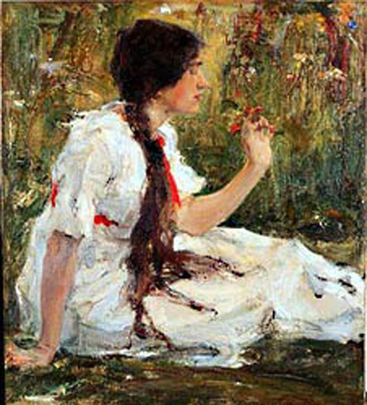 Spring in steppe fechin nicolai fechin paintings for Nicolai fechin paintings for sale