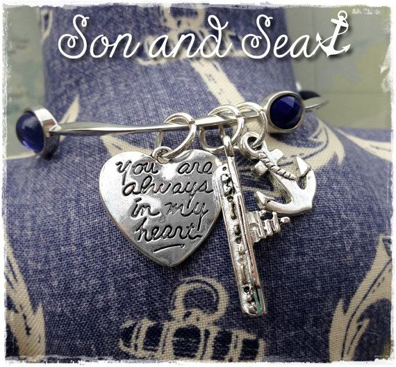 US Navy bangle charm bracelet by Son and Sea FREE US shipping
