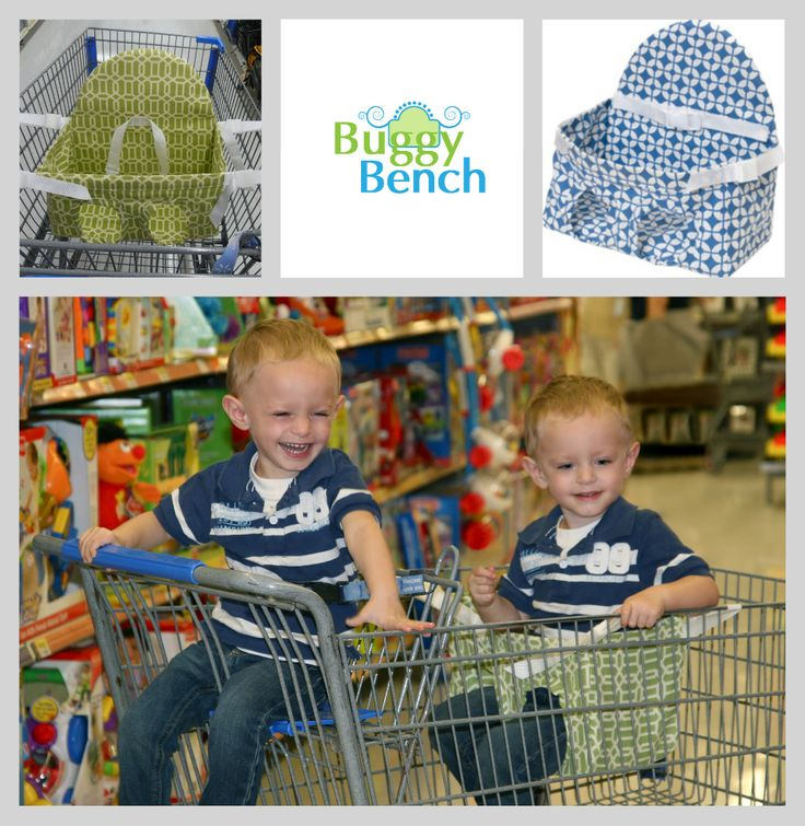 BuggyBench is a portable shopping cart seat for 2nd child. www.buggybench.com