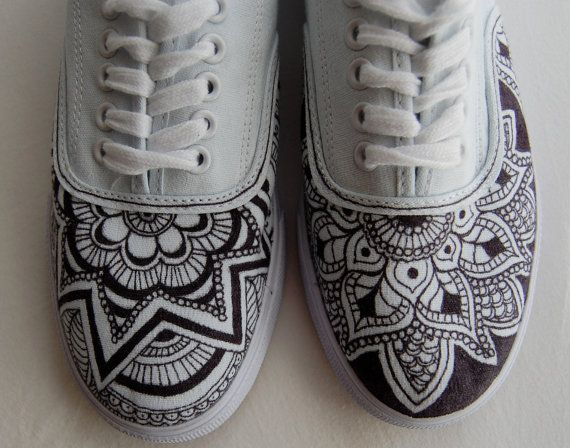 Hand Drawn Shoes...white sneaks + black sharpie + long day = cool shoes!