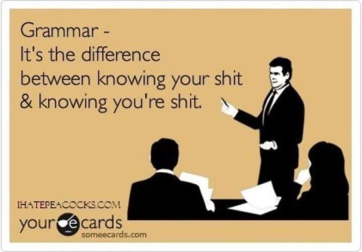 Grammar - know you're your yore.
