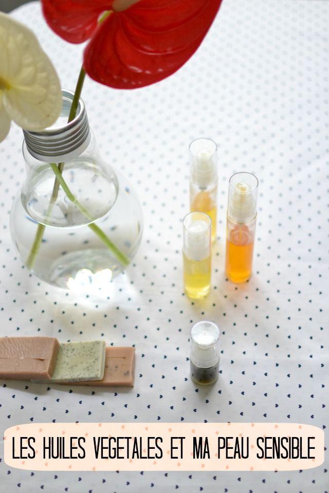 huile végétale et peau sensible / routine beauté / + d'infos sur withalovelikethat.fr