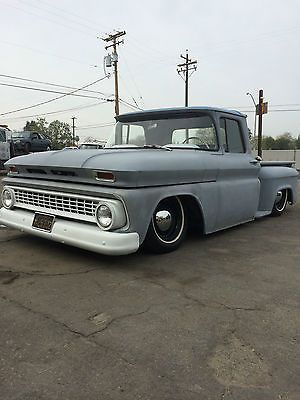 1963 Chevy C10 Stepside Shop Truck Rat Rod C-10 Bagged Airbags Small Window 63 photo 7